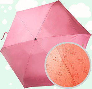 5 Folded Umbrella with Aqua Pattern