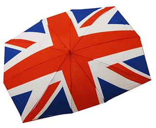 England Flag 2 persons Umbrella