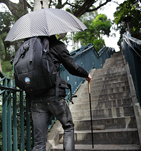 Automatic 2 in 1 cane umbrella