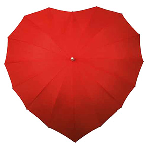 Heart Shape Straight Umbrella