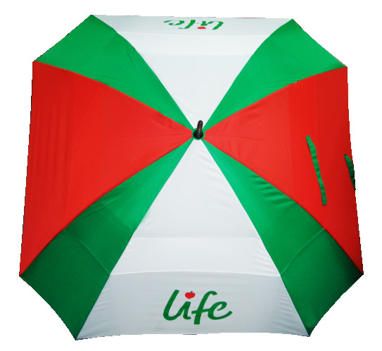 Manual Golf Umbrella w/ Square Shape